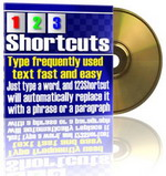 Product picture 1 2 3 Shortcuts - Type Frequently Used Text Fast And Easy