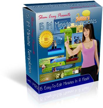 Product picture 15 IM Minisite Templates