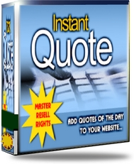Product picture Instant Quote - Add Quotes of The Day To Your Website