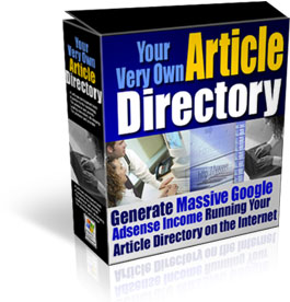 Product picture Your Very Own Article Directory - Cranking Out Adsense Income Day & Night