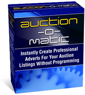 Product picture Auction-O-Matic Auction Software - Automatically Create Auction Ads That Really Hit Potential Bidders Between The Eyes