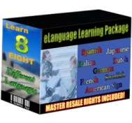 Product picture Elanguage Learning Package - Learn 8 Different Language